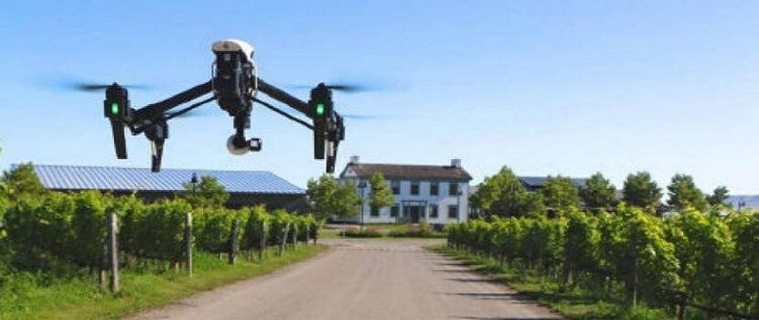 Videoprohlídka nemovitosti pomocí dronu.